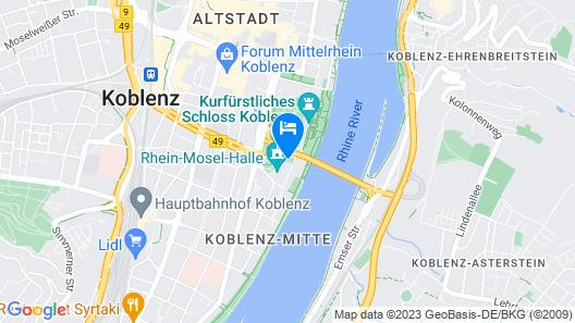 Mercure Hotel Koblenz Map