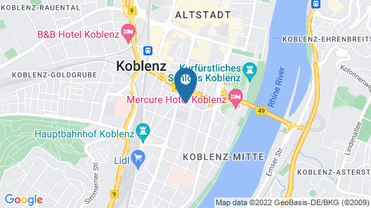 Hotel Brenner Map