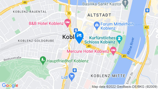 dingdong koblenz - city apartments Map