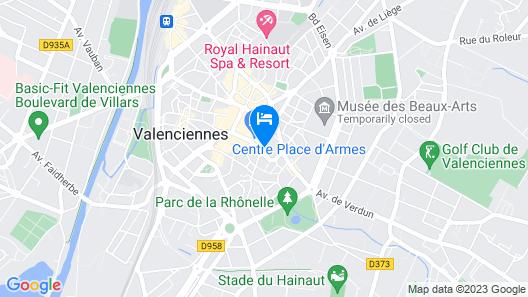 Mercure Valenciennes Centre Map