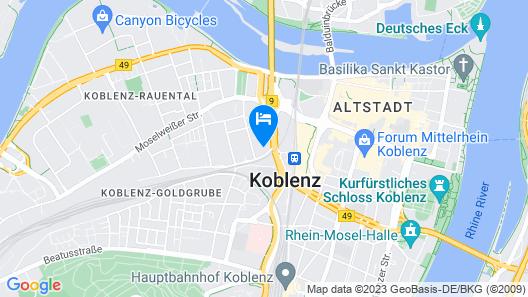 B&B Hotel Koblenz Map