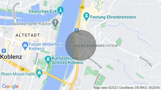 Rhine Diamond in the spa Town of Koblenz-ehrenbreitstein Map
