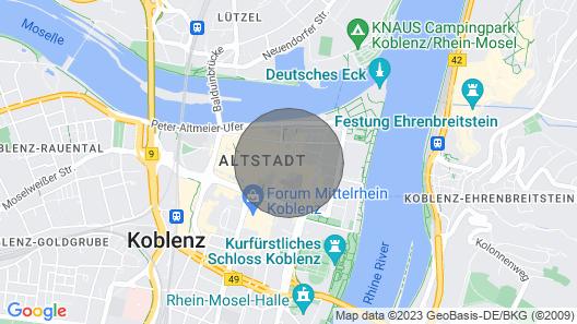 Urlaub im Herzen der Koblenzer Altstadt für 1 bis 5 Personen Map