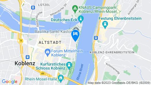 City Apartments Rheinterrassen Map