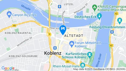 City-Hotel Kurfürst Balduin Map