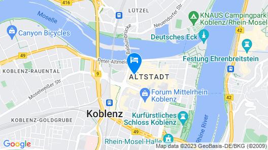 City Appartment Koblenz - Altenhof 1 OG  Map