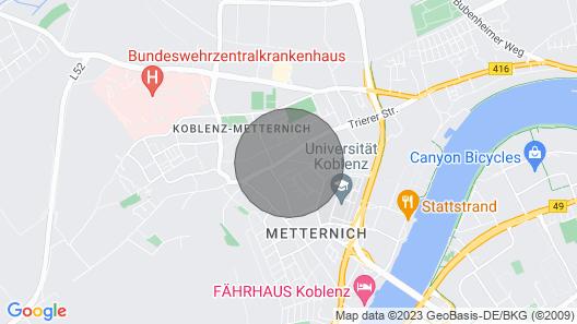 Apartment Uni- Koblenz Map