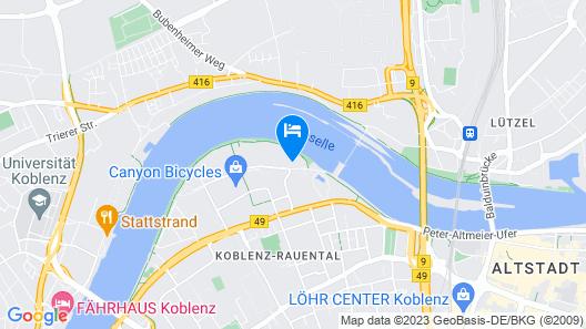 CONTEL Hotel Koblenz Map