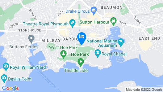 Crowne Plaza Plymouth Map