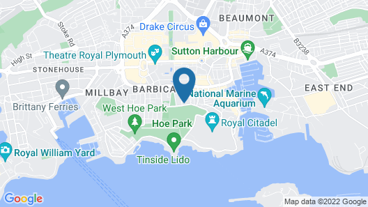 The Pub On The Hoe Map