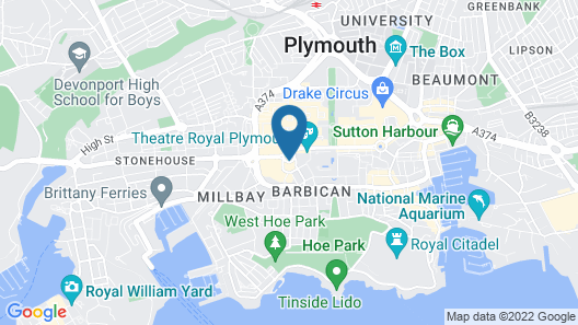 Travelodge Plymouth Map
