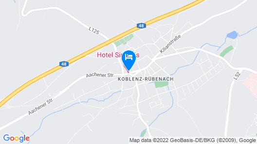 Hotel Simonis Koblenz Map