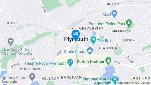 Copthorne Hotel Plymouth Map
