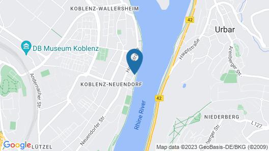 Ferienhaus Rheinblick Map