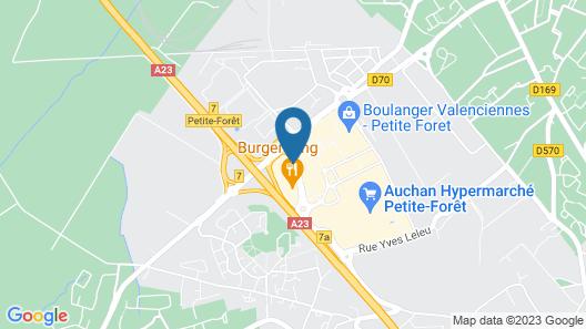 Campanile Valenciennes Ouest - Petite Foret Map