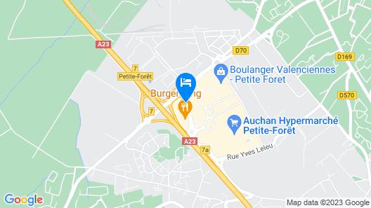 Première Classe Valenciennes Ouest - Petite Forêt Map