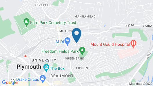 Central Plymouth 4 Bed House Map