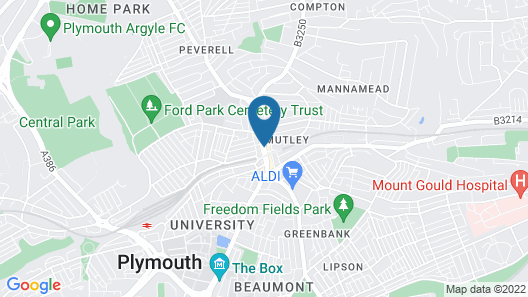 Central Plymouth Apartment By University Map