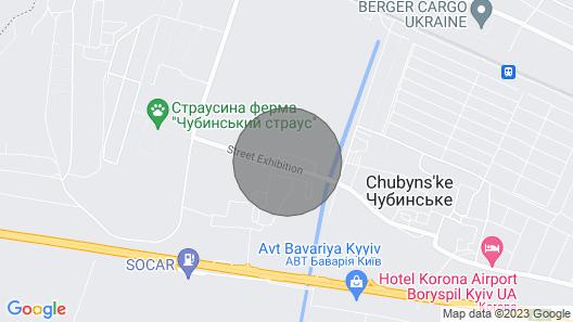 Apartment near Airport Kiev +Transfer to Stadium/Airport Map