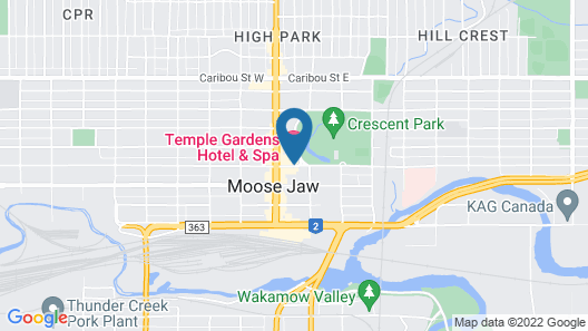 Temple Gardens Hotel & Spa Map