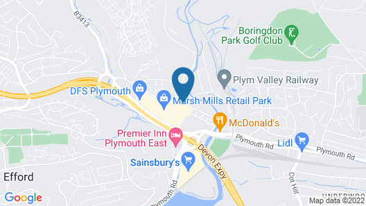 ibis Plymouth Map