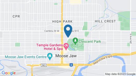 Travelodge by Wyndham Moose Jaw Map