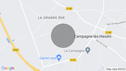 4 Bedroom Accommodation in Campagne les Hesdin Map