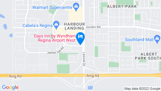 Home Inn and Suites Regina Airport Map