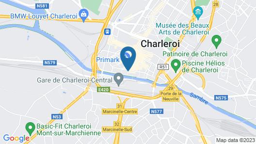 Charleroi Youth Hostel Map