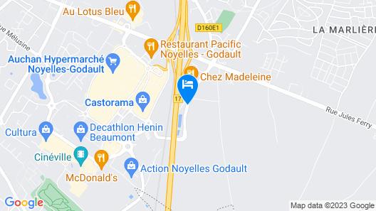 Première Classe Lille Sud - Henin Beaumont Map