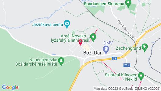 Apartments Stein Boží Dar Map