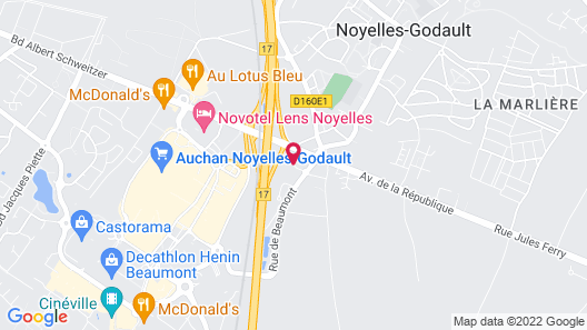 Comfort Hotel Lens - Noyelles Godault Map