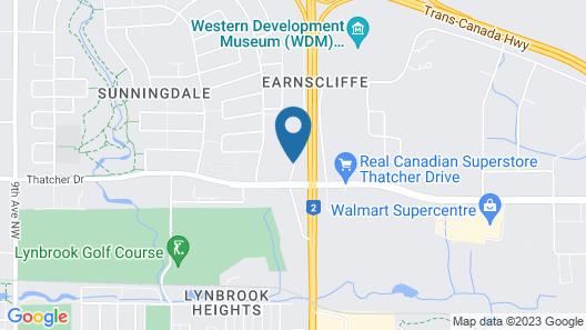 Super 8 by Wyndham Moose Jaw SK Map
