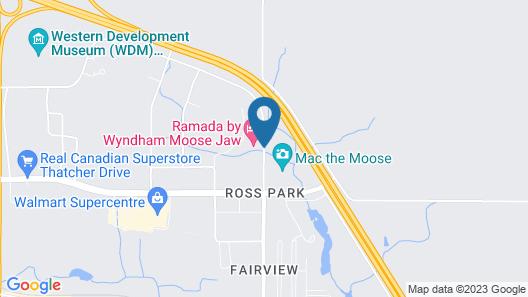 Best Western Plus Moose Jaw Map