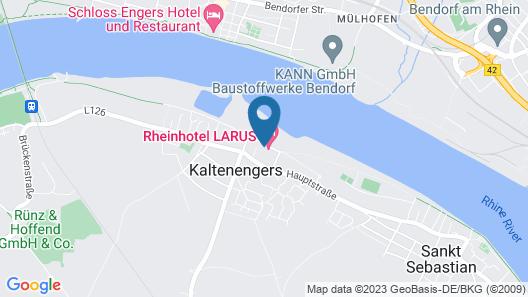 Rheinhotel LARUS Map