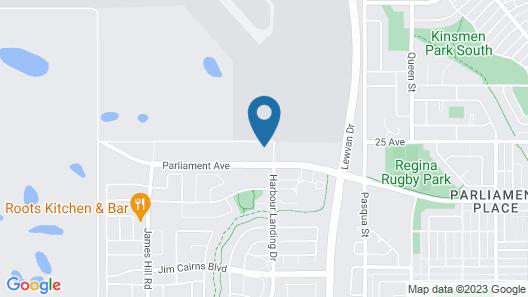 Meridian Inn & Suites Regina Airport Map