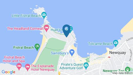 The Atlantic Hotel Map