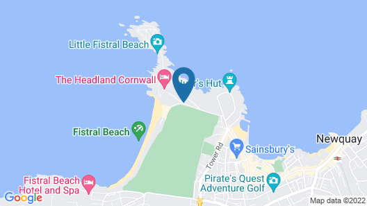 The Headland Hotel and Spa Map