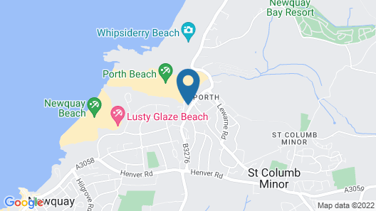 The Beach House & Porth  Sands Apartments Map