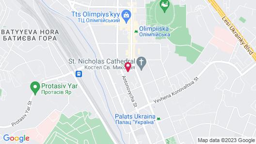 Holiday Inn Kyiv Map