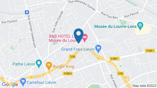 B&B Hotel Lens Musée Du Louvre Map
