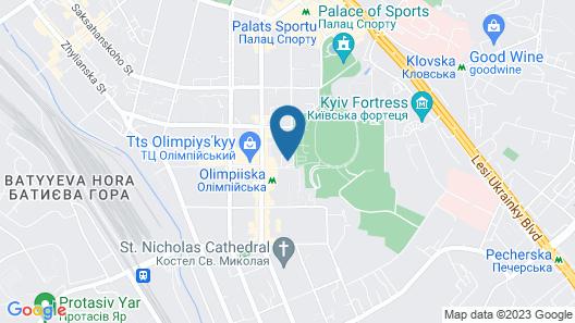 Park Inn by Radisson Kyiv Troyitska Map