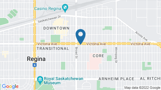 Quality Hotel Regina Map