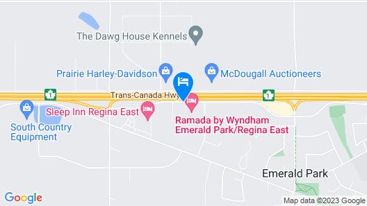 Sleep Inn Regina East Map