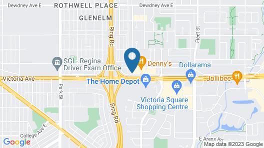 Sandman Hotel & Suites Regina Map