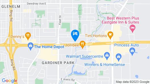 Super 8 by Wyndham Regina Map
