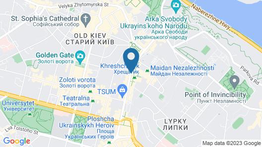 Partner Guest House Khreschatyk Map