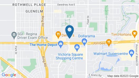 Motel 6 Regina, SK Map