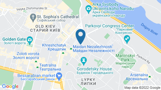 Hotel Ukraine Map