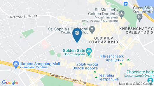 Radisson Blu Hotel, Kyiv City Centre Map